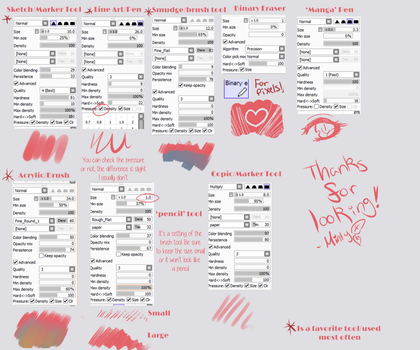 Paint Tool Sai Brushes +Updated+ by mintysoup