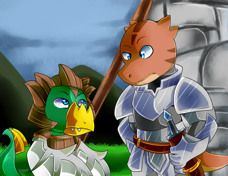 Meet Jiffa and Brown Knight by FanDragonBrigitha
