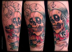 skull tattoo 2013 color by WillemXSM