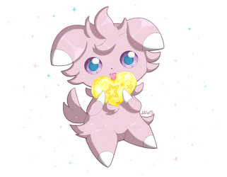 Shiny Espurr by Willow-Pendragon