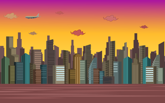 Total Drama BG - Big City in Sunset by Terrance-Hearts-Art