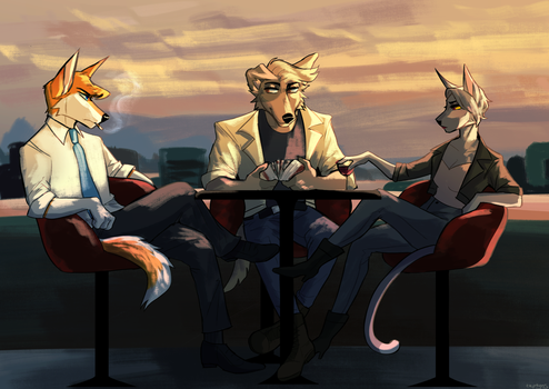 Cafe  by captyns