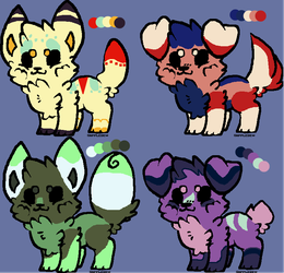 Doggo adoptables (Open!) (1/4 open) by Paint-y