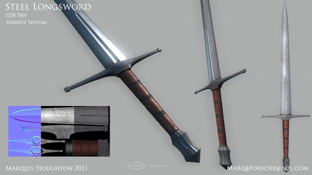 Steel Longsword by marq4porsche