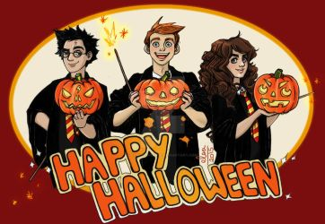 Harry Potter HappyHalloween color by ElsaVonNarbe