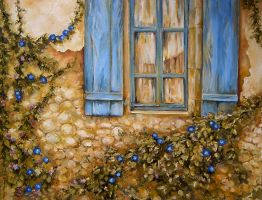 The Old House Window ... by radina