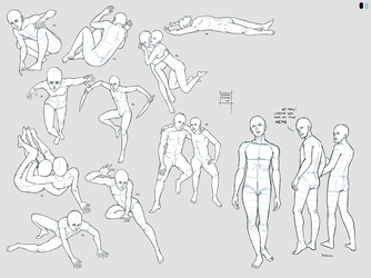 Sketchdump June 2018 (Poses - DEJ part 2) by DamaiMikaz