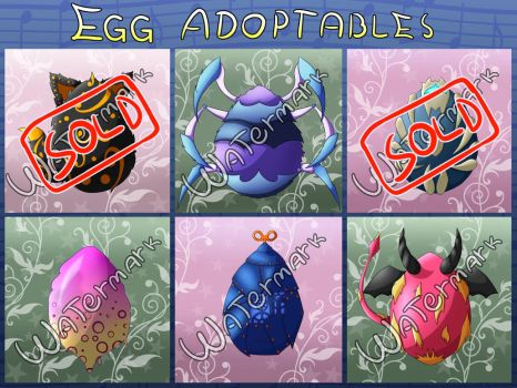 Egg Adoptables: OPEN by D3rw3n
