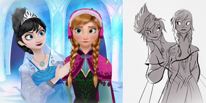 Evil Elsa and Anna (MMD) by MichellCadenkylover