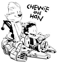 Chewie and Han Solo by FranciscoMD