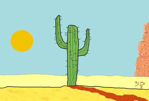 CACTUS AFTERNOON by Zayd-Depaor