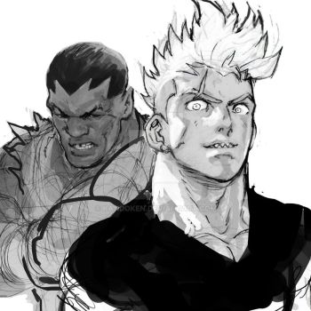 Speed sketches of brawlers by Kandoken