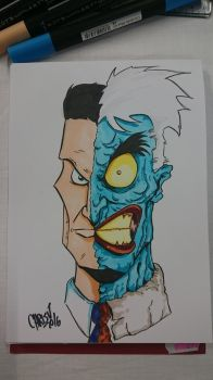 Two Face Sketch by DerFanboy