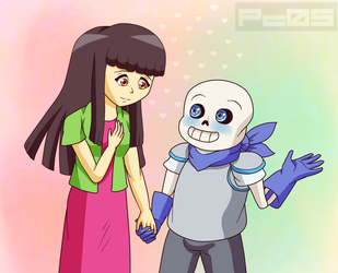 May with Swap Sans- Wanna go on a date by Pichu-Chan05
