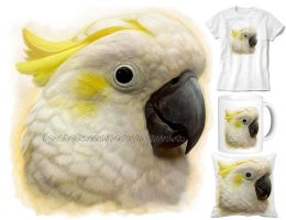 Lesser sulphur crested cockatoo by emmil