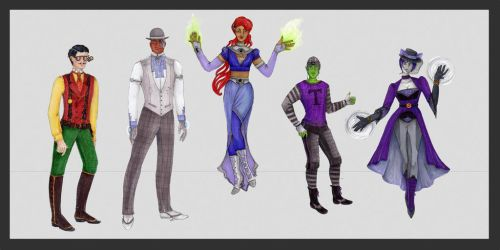 Teen Titans by theceruleancreep