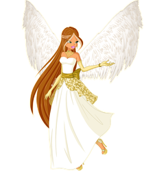 Commission- Angelic Flora by ColorfulButterfly358