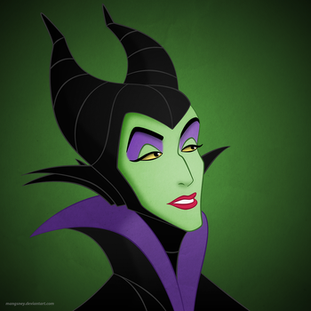Disney Villainesses: Maleficent by Mangsney