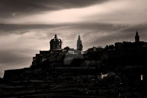 Mdina From the side by jamescut