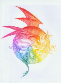 Color Wheel: Dragon Hunt by nemert