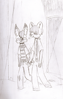 Kyte and Alex on a Walk by KyteTheFox