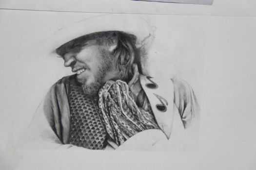 Stevie Ray Vaughn WIP 1 by Cutshaw1
