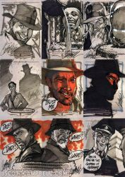INDIANA JONES Sketch Cards 2 by J-Scott-Campbell