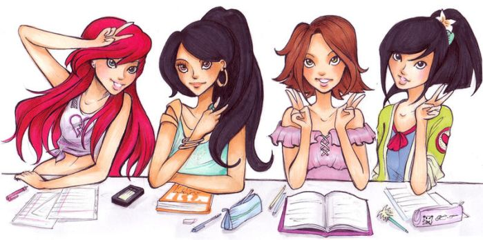 Disney high: sophomore class by Nina-D-Lux