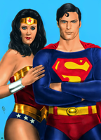 Superman and Wonder Woman by arissuparmanart