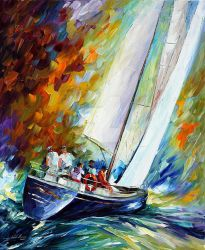 West Wind by Leonid Afremov by Leonidafremov