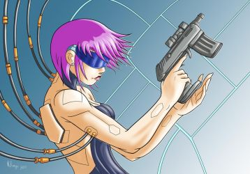 Cyberpunk Lady color by RedShoulder