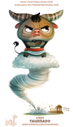 Daily Paint 1897# Taurnado by Cryptid-Creations