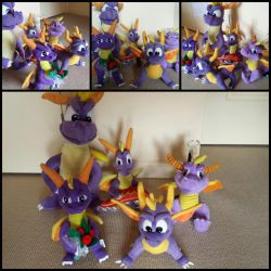 My Spyro The Dragon Plush Toy Collection! by frozendragonflames