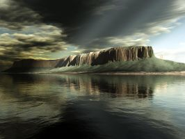 Terragen - Stormy Island by duris