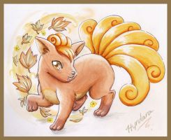 Autumn Vulpix by AustriaUsagi