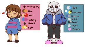 DeterminationTale - Frisk and Sans Color Palette by CreatorOfCastell