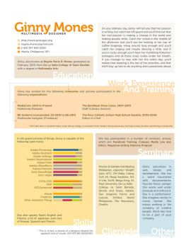 110612 Creative Resume by postages