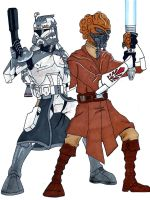 Commander Wolffe and General Plo Koon by Spartan-055