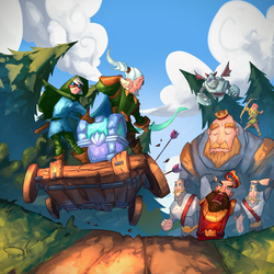 Robbing the red king (clash Royale illustration) by ninjakimm