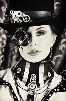 Steampunk portrait by Luria-XXII