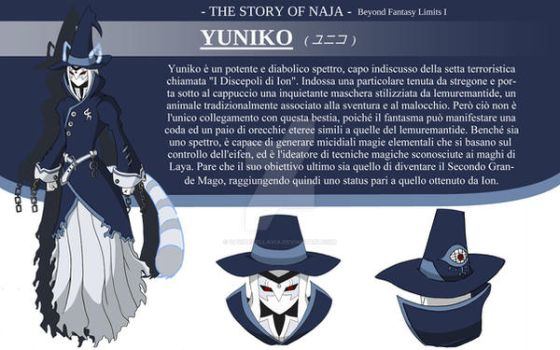 Yuniko Character Design - The Story of Naja by DavideDellaVia
