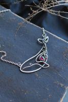 Silver Whale necklace by UrsulaJewelry
