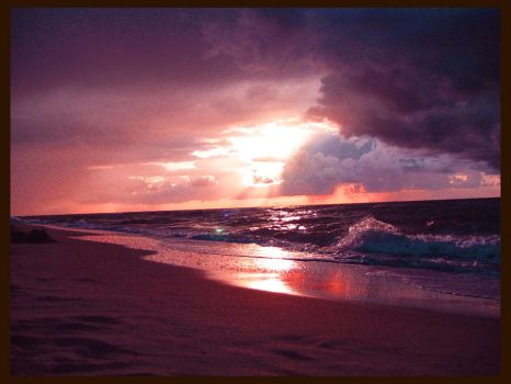 sunset and the Baltic Sea 15 by Eikka