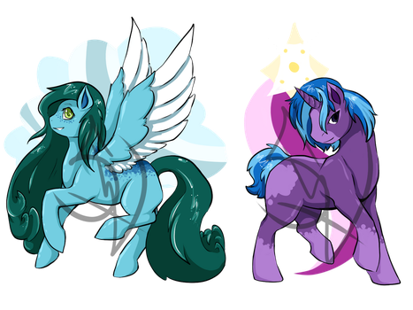 Point Adoptable Ponies - 2/2 OPEN! by Smash-Wolf