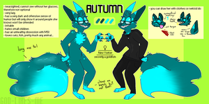 Fursona reference sheet 2016 by GOD-LIKES-ME
