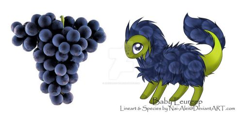 Fruit Themed Adoptables 3 [grape] by alkindadopts
