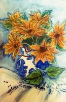 Watercolor Still Life Flowers by EuphoniousCacophony