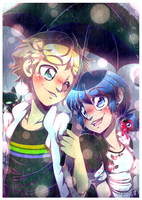 .:Miraculous - Adrien and Marinette:. by KatheChan