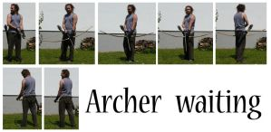 Archer waiting by syccas-stock