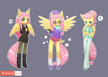 Fluttershy with style by HowXu
